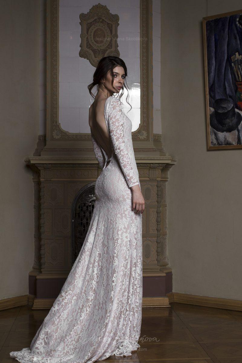 Albertа - Изюминка свадебного платья - сексуальная спинка с глубоким вырезом ниже талии и тип кружева  Anna Skoblikova