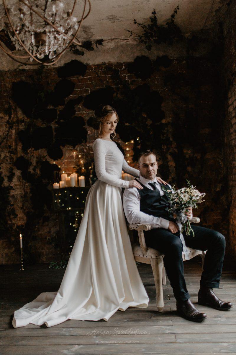 Pearl - Stunning author`s texture wedding dress \\ Anna Skoblikova
