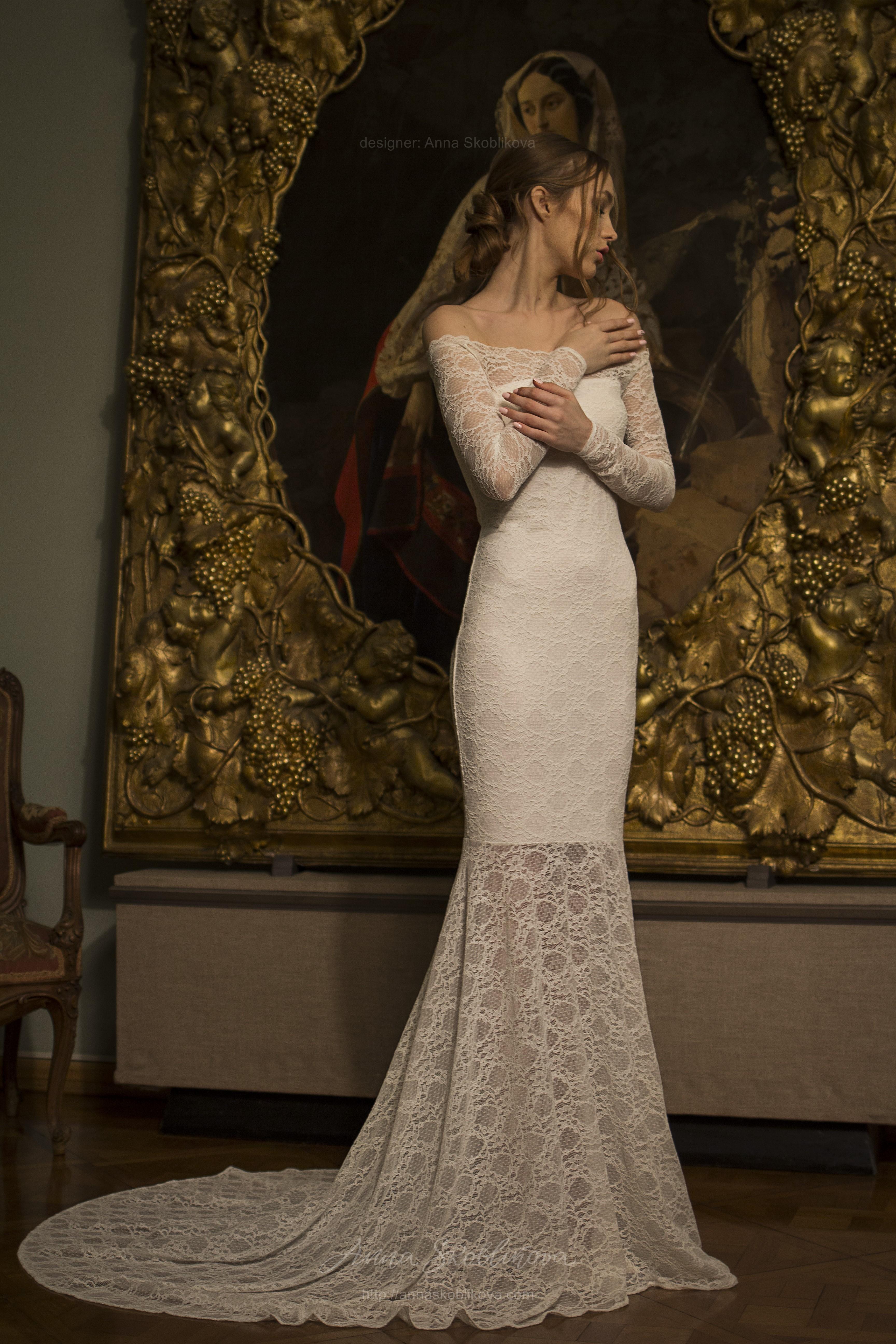 Off The Shoulder Wedding Dress Olivia Fishtail Wedding Dress