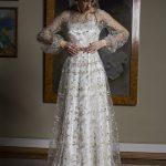 Photo 1: Elegant two layered wedding dress + floral embroidered detailing \\ Anna Skoblikova