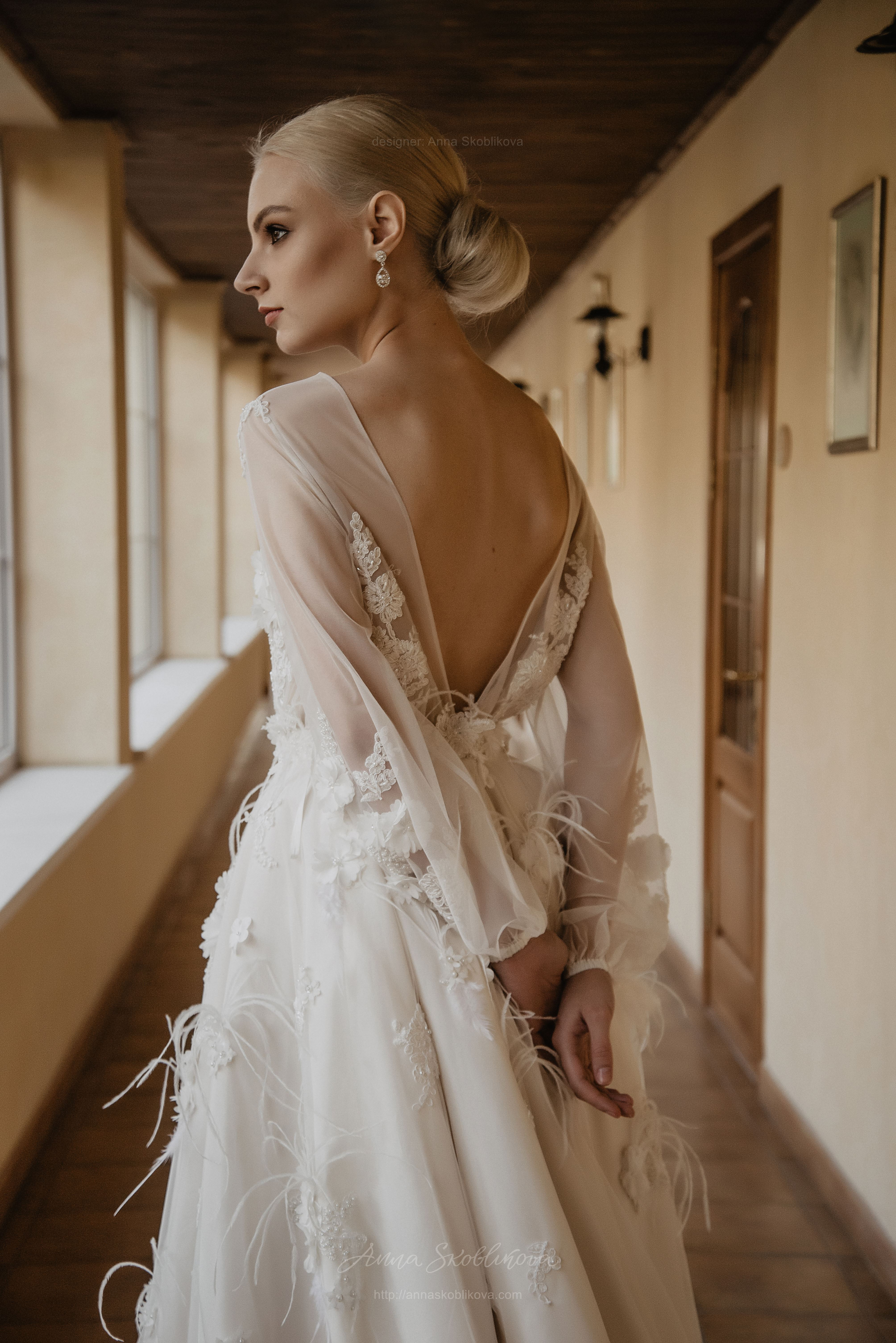Long Sleeve Wedding Dress Enigma With Hand Embroidery Anna
