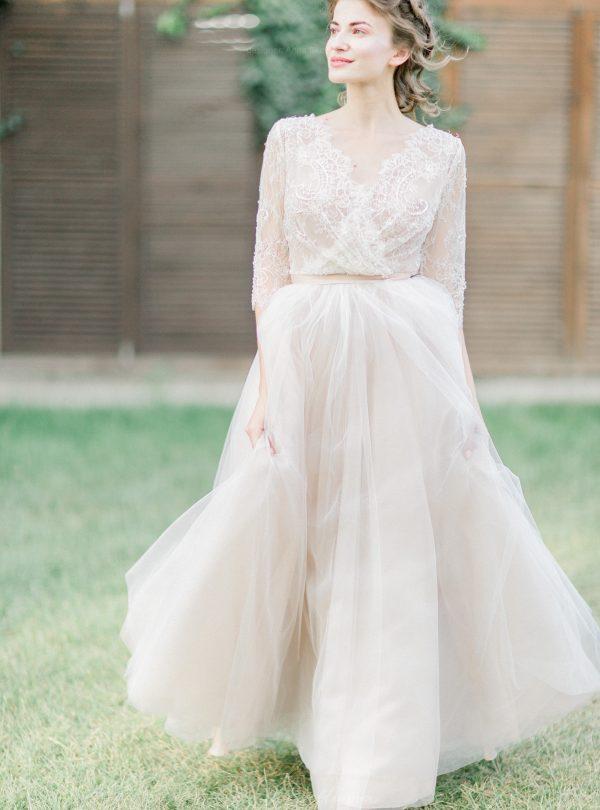 Свадебное платье расшитое кристаллами - Anna Skoblikova