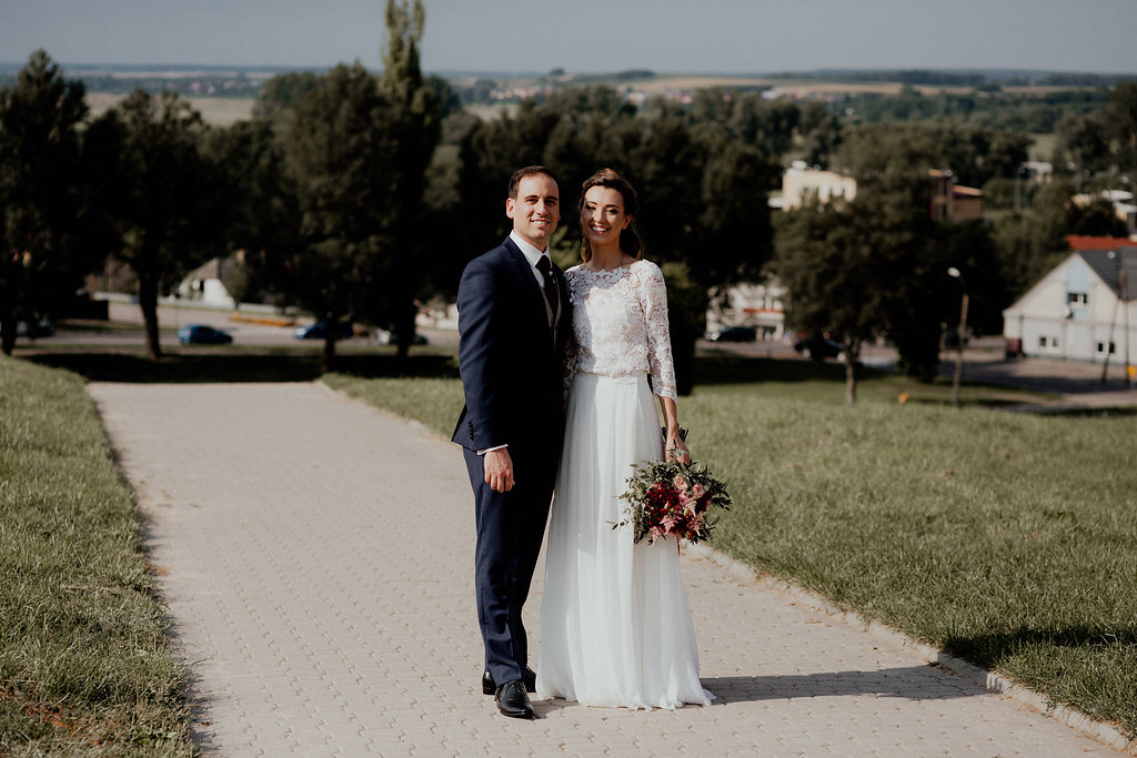 Macrame lace wedding dress by Anna Skoblikova