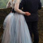Blue Wedding Dress - 0019 by Anna Skoblikova