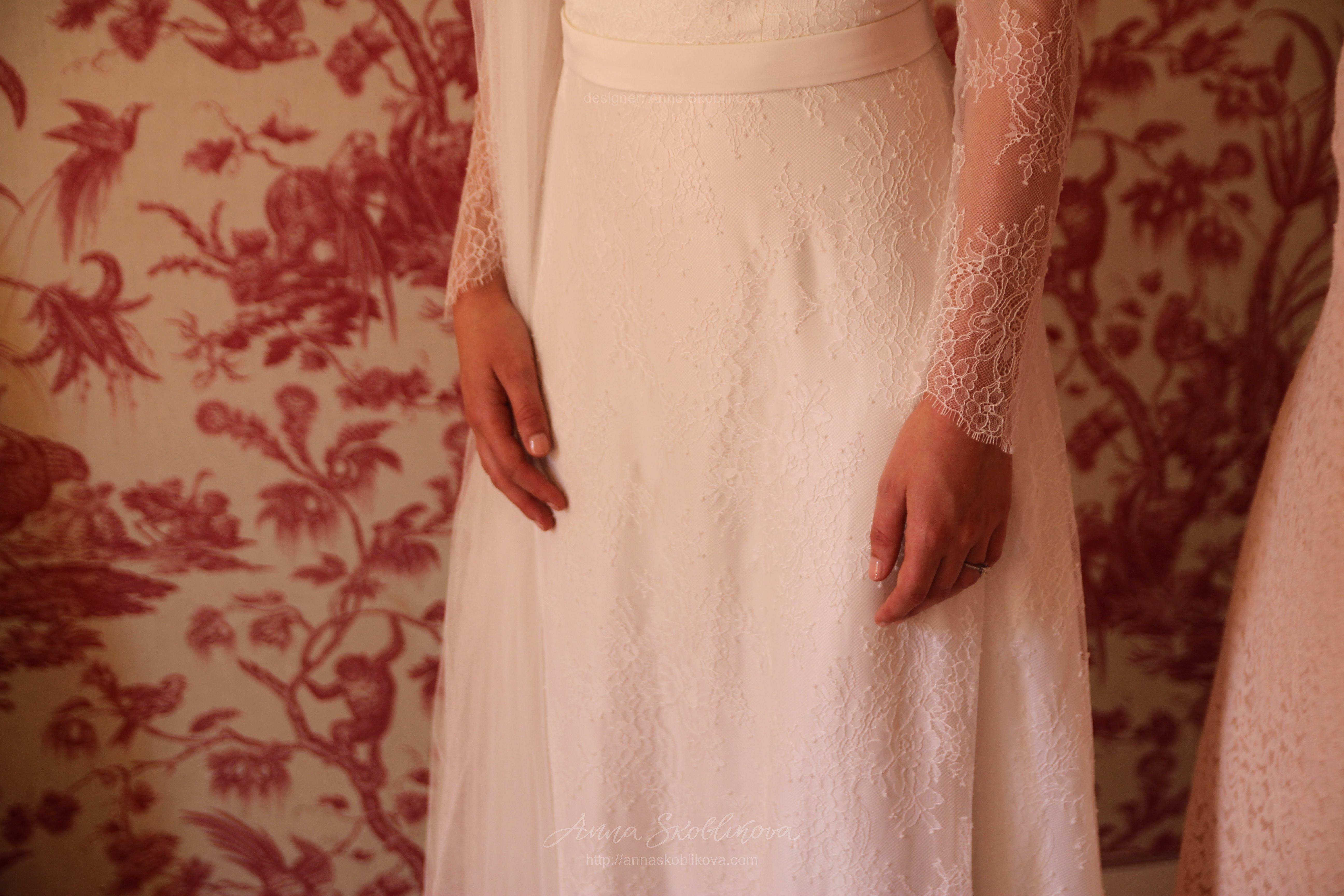 Lace Wedding Dress - 0053 by Anna Skoblikova