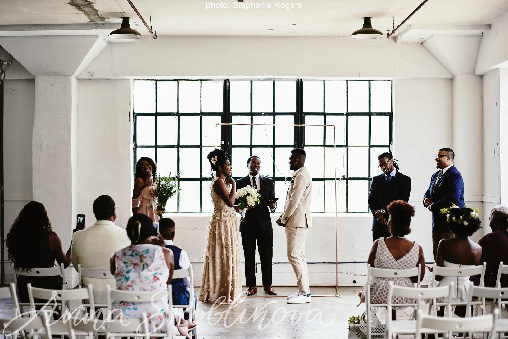 Deun and Eric \ Silk Wedding dress by Anna SKoblikova