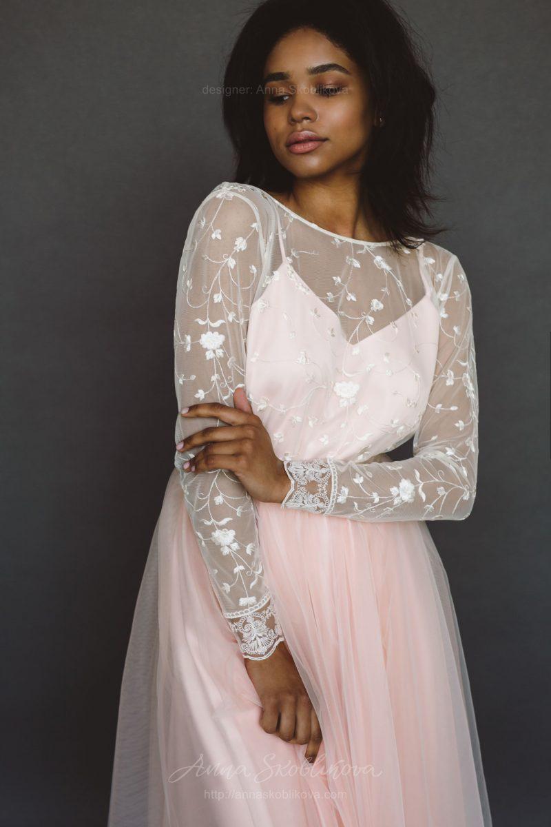 Свадебное платье с v-вырезом спинки - Anna Skoblikova