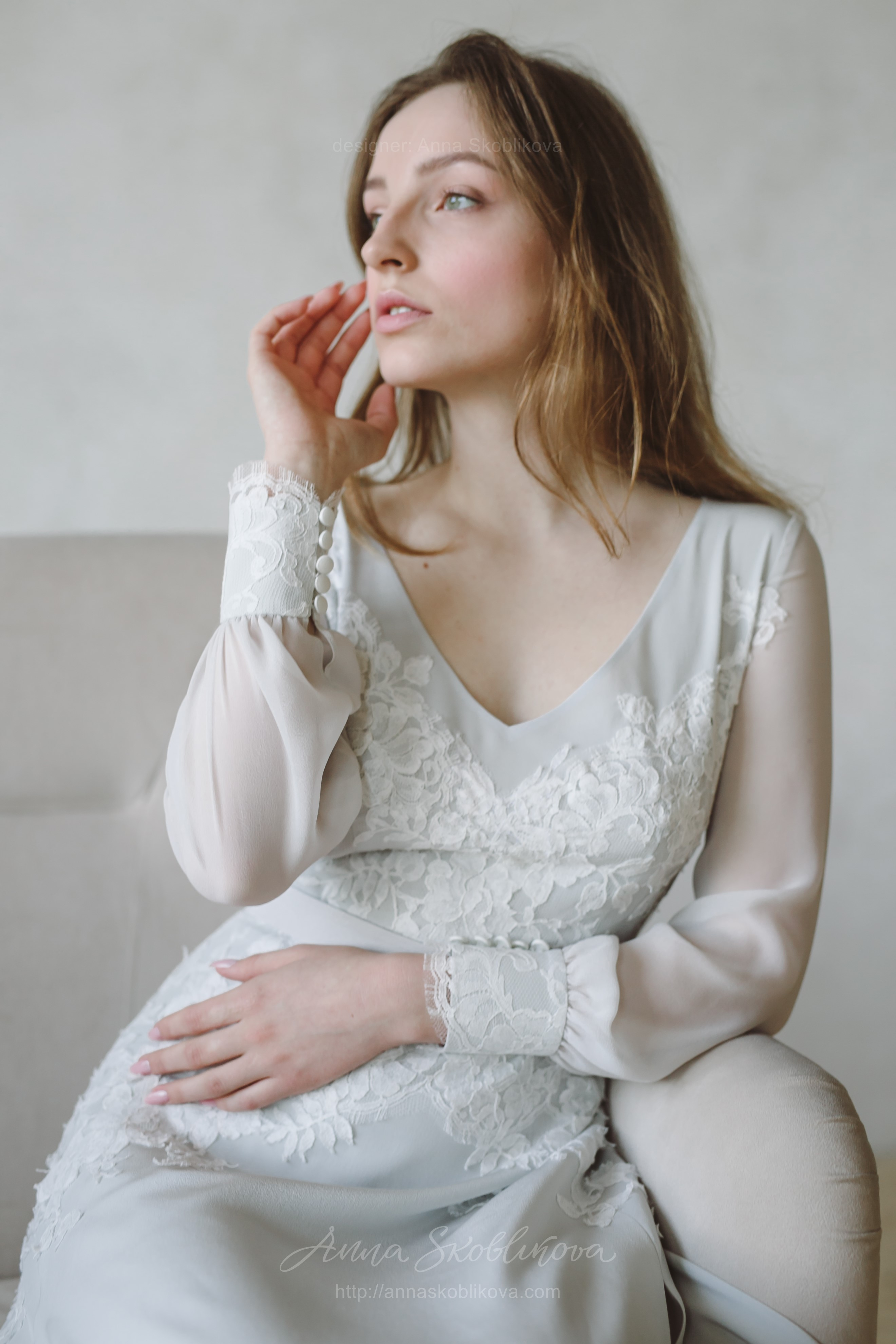 Bohemian Wedding Dress Boho Anna Skoblikova: Wedding Dresses With Pink Blue Accents At Websimilar.org