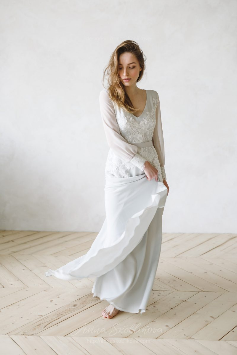 Bohemian wedding dress, Boho wedding dress - Anna Skoblikova