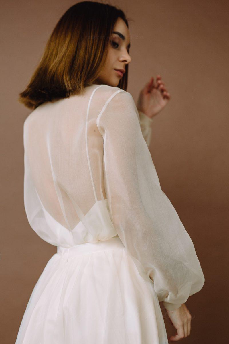 Transparent wedding dress - Olimpia