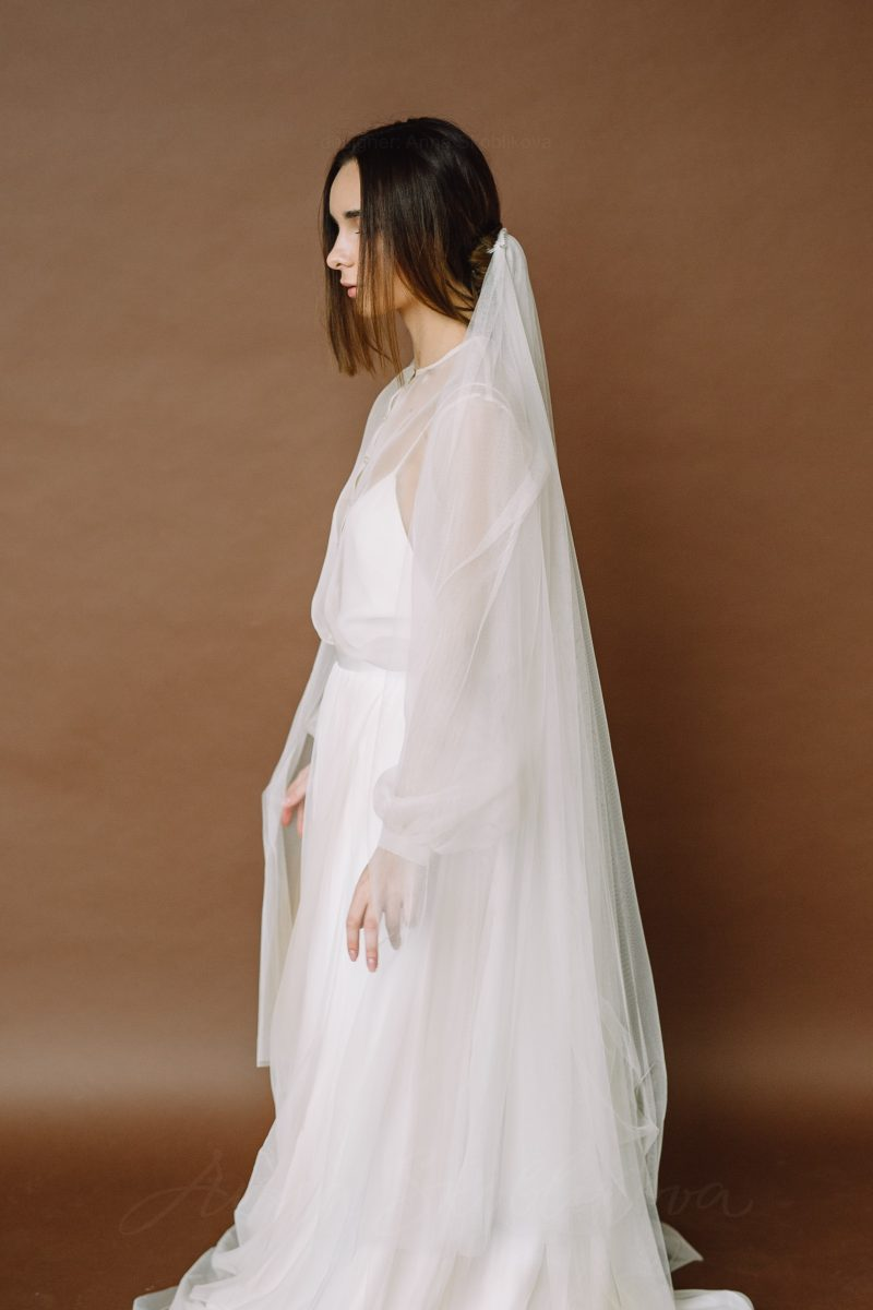 Silk wedding dress - Olimpia