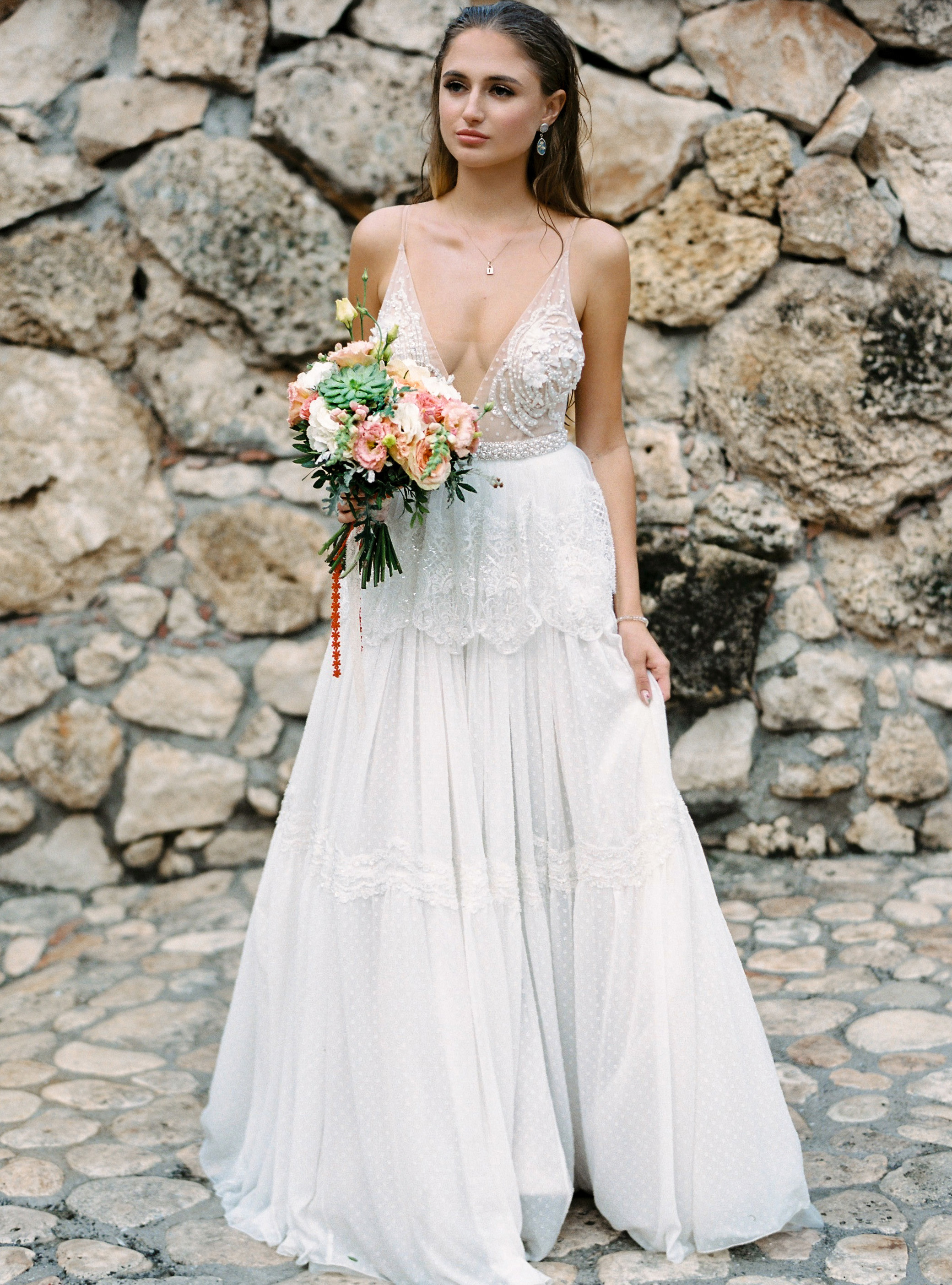 Backless wedding dress \ Anna Skoblikova \ Gentle Angel \ 2021