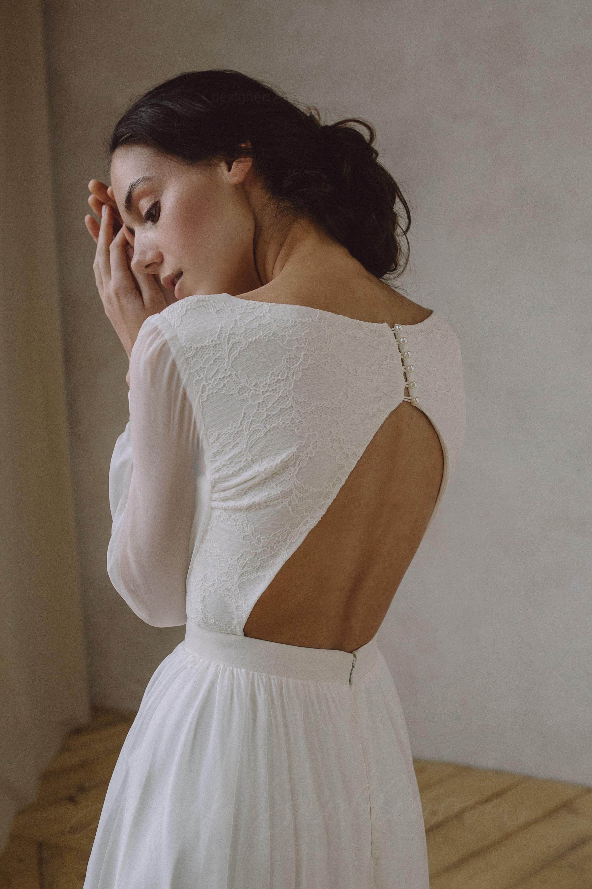 Open back wedding dress - Anel  Anna Skoblikova