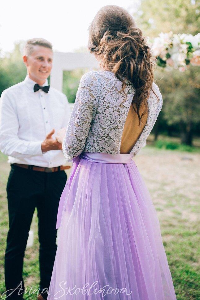 Flowing wedding dress - 0042 / Anna Skoblikova / Julia | Photo 2